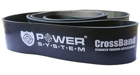 Резинка для подтягиваний (лента сопротивления) Power System Cross Band Level 5 Black