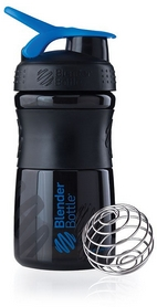 Шейкер BlenderBottle SportMixer 590 мл с шариком Black/Blue