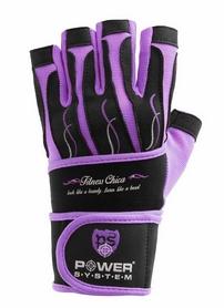 Перчатки спортивные Power System Fitness Chica Purple
