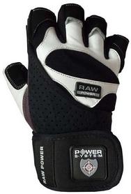 Перчатки атлетические Power System Raw Power Black-White