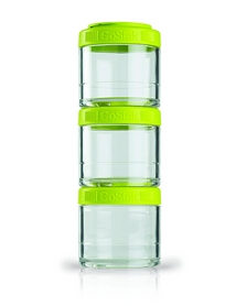 Контейнер для спортивного питания BlenderBottle GoStak 3 Pak Original 300 мл зеленый