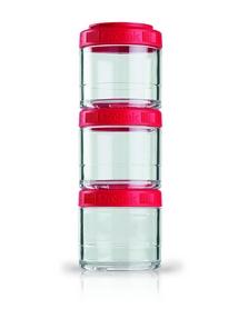 Контейнер для спортивного питания BlenderBottle GoStak 3 Pak Original 300 мл красный