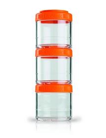 Контейнер для спортивного питания BlenderBottle GoStak 3 Pak Original 300 мл оранжевый