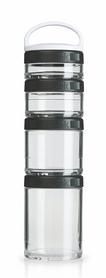 Контейнер для спортивного питания BlenderBottle GoStak Starter 4 Pak Original 350 мл черный