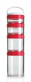 Контейнер для спортивного питания BlenderBottle GoStak Starter 4 Pak Original 350 мл красный