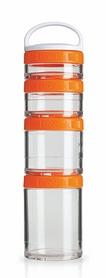 Контейнер для спортивного питания BlenderBottle GoStak Starter 4 Pak Original 350 мл оранжевый