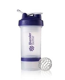 Шейкер BlenderBottle ProStak Original 650 мл с шариком прозрачный/фиолетовый