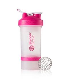 Шейкер BlenderBottle ProStak Original 650 мл с шариком прозрачный/розовый