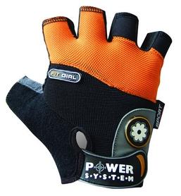Перчатки спортивные Power System Fit Girl Black/Orange