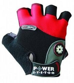 Перчатки спортивные Power System Fit Girl Black/Red