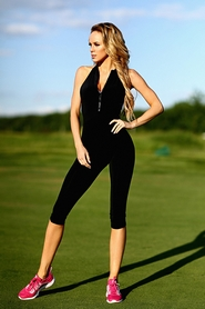 Комбинезон женский Designed For Fitness Zipper Capri Black