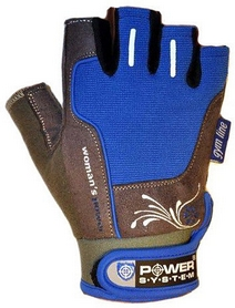 Распродажа*! Перчатки спортивные Power System Woman's Power PS-2570 Blue - размер XS