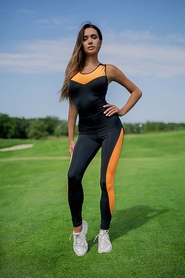 Комбинезон женский Designed For Fitness Sexy Black with Orange