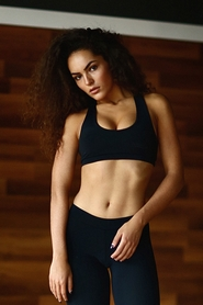 Топ Designed For Fitness Black Elegant push up