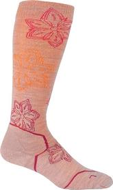 Термоноски Icebreacer Ski + Lite OTC Print TBC Women оранжево-розовые