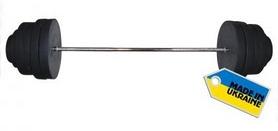 Фото 2 к товару Штанга наборная Newt Rock 157 кг + подарок