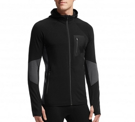 Термокуртка мужская Icebreaker Atom LS Zip Men black/monsoon