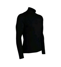 Термофутболка мужская с длинным рукавом Icebreaker BF 200 Mondo Zip Men black