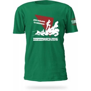 Футболка женская Turbat Gorgany Race зеленая
