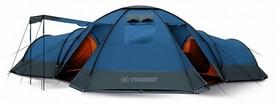 Палатка двенадцатиместная Trimm Bungalow II lagoon/grey синяя