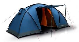 Палатка четырехместная Trimm Comfort II lagoon/grey синяя