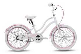 """Велосипед детский 20"""" Pride Angel 2016 бело-розовый глянцевый"""