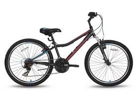 """Велосипед подростковый горный 24"""" Pride Brave 21 2016 черно-синий матовый"""