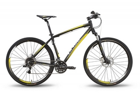 """Велосипед гибридный Pride Cross 3.0 28"""" 2016 черно-жёлтый матовый, рама - 17"""""""