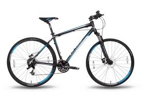 """Велосипед гибридный Pride Cross 2.0 28"""" 2016 черно-синий матовый, рама - 17"""""""