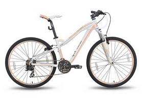 """Велосипед гибридный Pride Bianca V-br 26"""" 2016 бело-персиковый матовый, рама - 18"""""""
