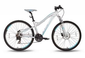 """Велосипед гибридный Pride Bianca Disc 26"""" 2016 серо-бирюзовый матовый, рама - 16"""""""