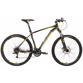 """Велосипед горный 27,5"""" Pride XC-650 RL черно-желтый матовый, рама - 17"""""""
