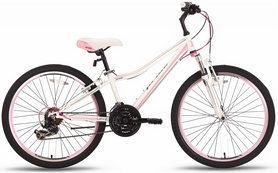"""Велосипед подростковый горный Pride Lanny 21 2016 бело-розовый матовый, рама - 14"""""""
