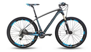 Велосипед горный Pride XC-650 PRO 3.0 27,5'' 2016, черно-синий матовый  рама - 17