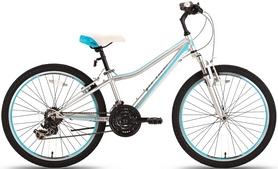 """Велосипед подростковый горный Pride Lanny 21 24"""" 2016 серо-бирюзовый матовый, рама - 14"""""""