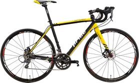 """Велосипед шоссейный Pride Rocket Claris Disc 28"""" 2016 черно-желтый, рама - 21"""""""