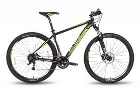 """Велосипед горный Pride XC-29 HD 29"""" 2016 черно-зеленый матовый, рама - 21"""""""