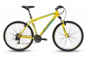 """Велосипед горный Pride XC-650 V 27,5"""" 2016 желто-синий матовый, рама - 21"""""""