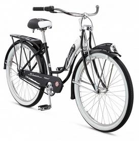 Фото 2 к товару Велосипед городской Schwinn Classic Deluxe 7 thru step frame 2015 black, рама - 26