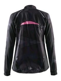 Фото 2 к товару Куртка женская Craft Devotion Jacket W черная с розовым