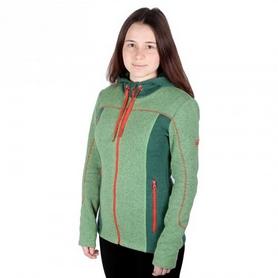 Толстовка женская Turbat Dzembronya зеленая/красная