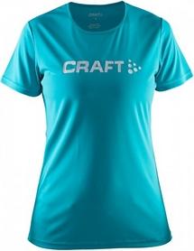 Термофутболкаа женская Craft Prime Logo Tee Wmn голубая
