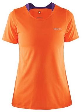 Футболка женская Craft Joy SS Shirt Wmn оранжевая