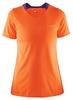 Футболка женская Craft Joy SS Shirt Wmn оранжевая - фото 1
