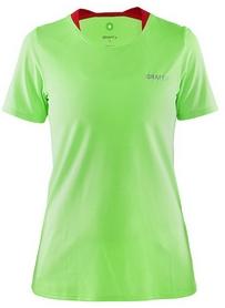 Футболка женская Craft Joy SS Shirt Wmn салатовая