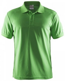 Футболка мужская Craft Polo Shirt Pique Classic Craft Green