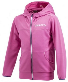 Толстовка Craft Stretch Hood Full Zip J розовая