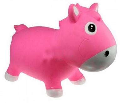 Прыгун-лошадка Kidzzfarm Гарри с насосом розовый