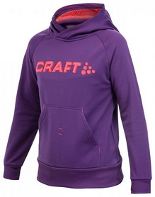 Толстовка Craft Stretch Hood J фиолетовая