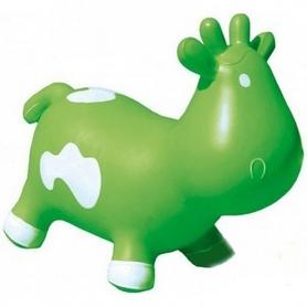 Фото 1 к товару Прыгун-коровка Kidzzfarm Бетси с насосом зеленый